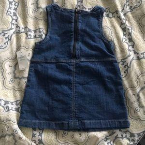 GAP Dresses - Baby gap jean overall dress - 12-18m - NWT